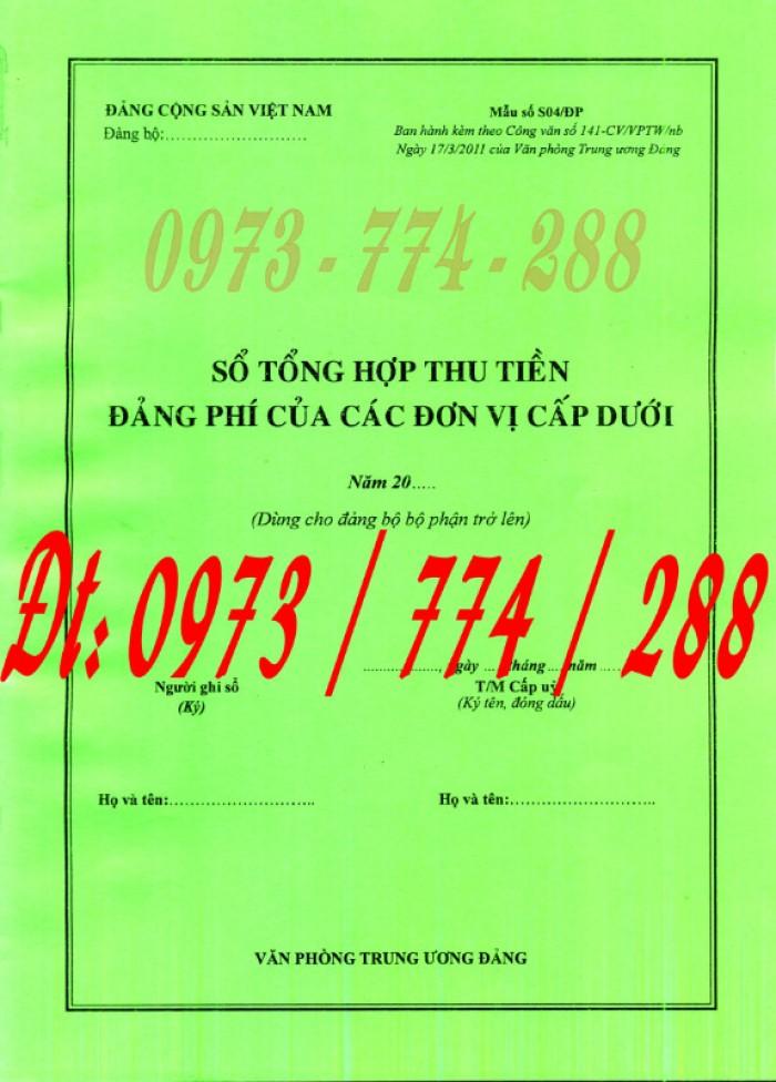 Sổ theo dõi chi tiết thu tiền Đảng phí các đơn vị cấp dưới - Dùng cho Đảng bộ bộ phận trở lên4