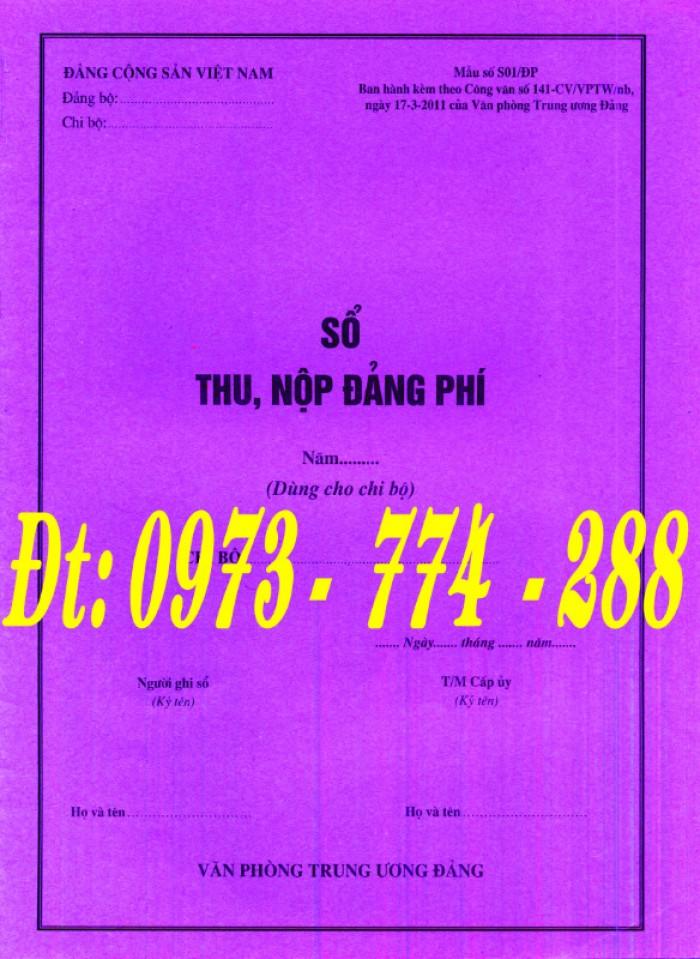Đảng Cộng Sản Việt Nam - Sổ theo dõi chi tiết thu tiền Đảng phí các đơn vị cấp dưới mẫu số s03/đp1