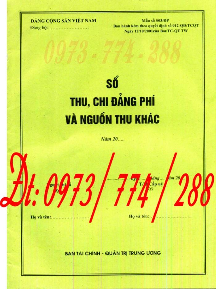 Đảng Cộng Sản Việt Nam - Sổ theo dõi chi tiết thu tiền Đảng phí các đơn vị cấp dưới mẫu số s03/đp3