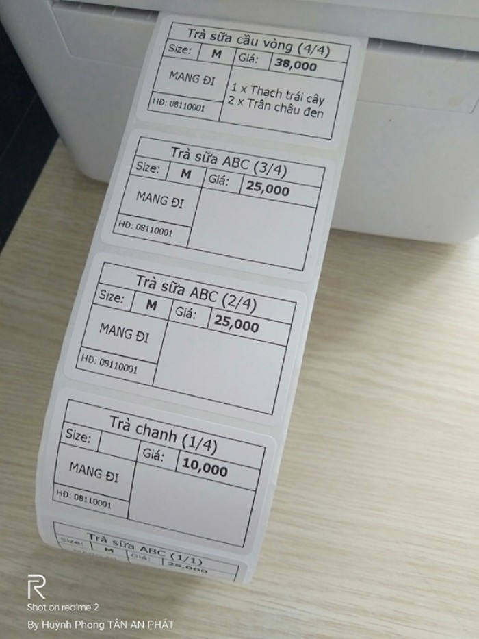 Bộ máy tính tiền cho quán trà chanh tại Thái Bình - Hưng yên- Tuyên Quang4