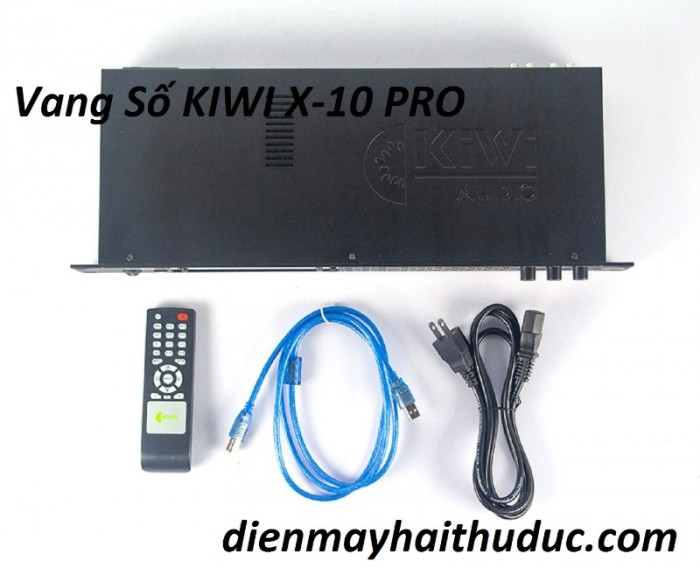 Vang số KIWI KF-X10 Trọn bộ gồm có: Đầu Kiwi KF-X10 Pro, dây nguồn, dây nối PC, disk cài, remote, hướng dẫn sử dụng.3