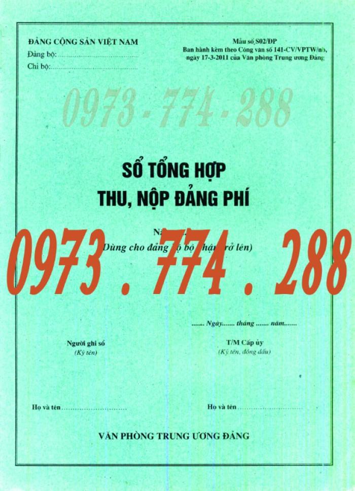 Bán quyển sổ tổng hợp thu tiền Đảng phí2