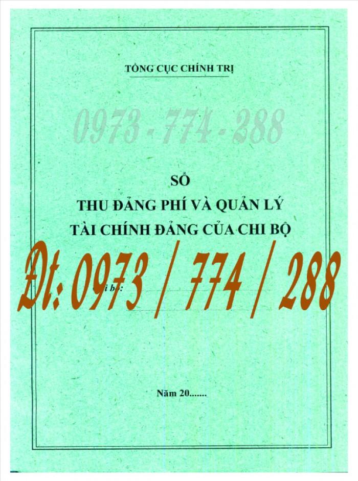 Bán quyển sổ tổng hợp thu tiền Đảng phí8