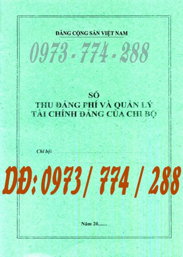 Bán quyển sổ tổng hợp thu tiền Đảng phí9