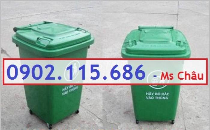 Thùng rác nhựa 60l, thùng rác 60l đạp chân, thùng rác 60l nắp lật, thùng rác 60l nắp kín,1