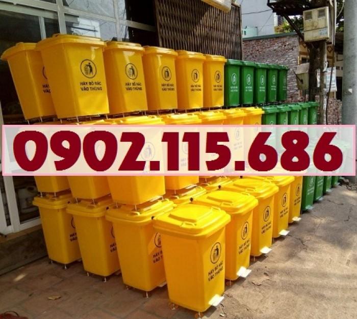 Thùng rác nhựa 60l, thùng rác 60l đạp chân, thùng rác 60l nắp lật, thùng rác 60l nắp kín,3