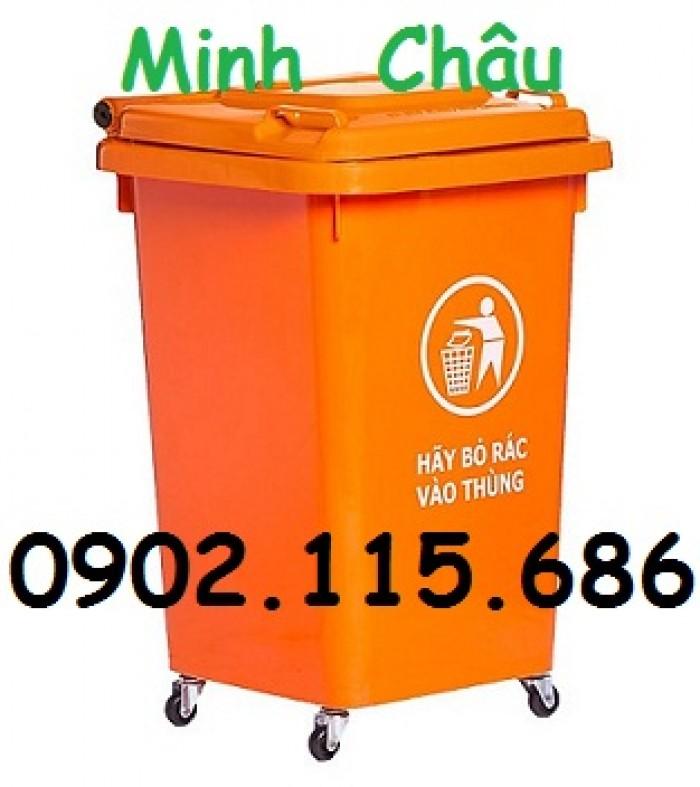 Thùng rác nhựa 60l, thùng rác 60l đạp chân, thùng rác 60l nắp lật, thùng rác 60l nắp kín,4