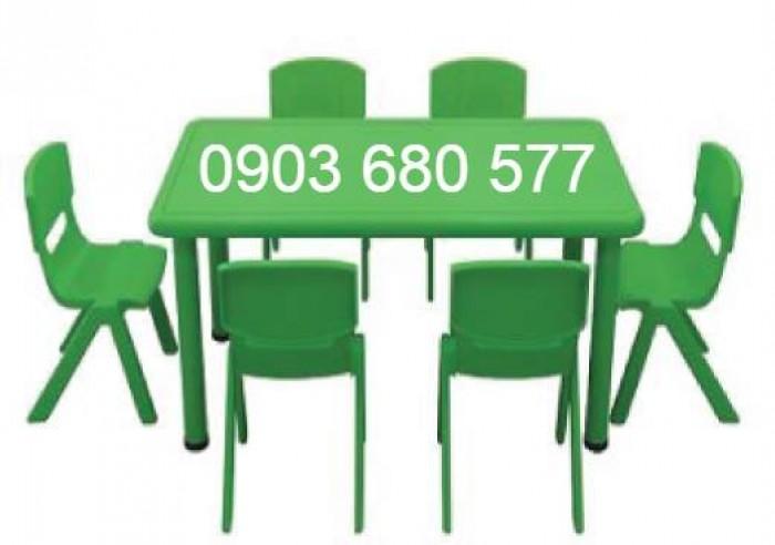 Nơi bán bàn nhựa hình chữ nhật cho trẻ em mầm non giá ƯU ĐÃI1