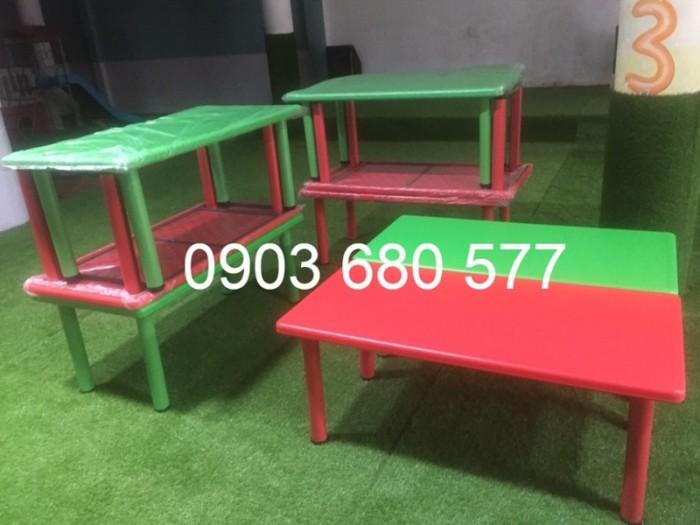 Nơi bán bàn nhựa hình chữ nhật cho trẻ em mầm non giá ƯU ĐÃI5