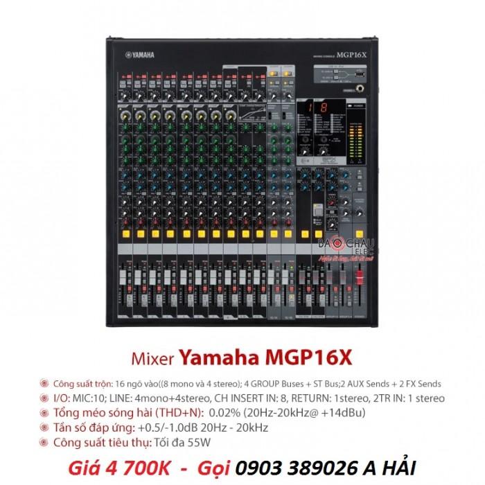 Mixer bàn Yamaha MGP16X 16 kênh Có thiết kế bắt mắt mang kích thước nhỏ gọn thông thường như những dòng mixer khác2