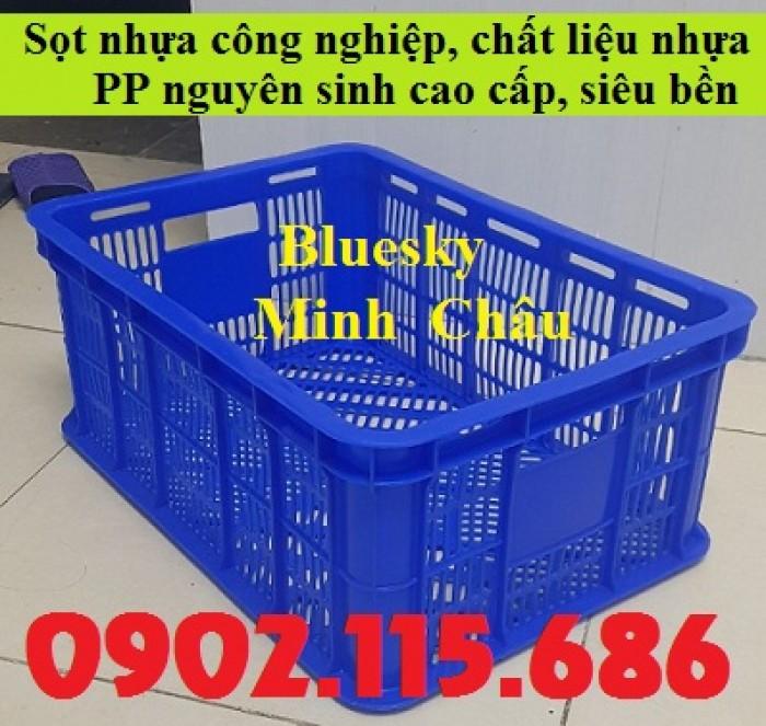 Sọt nhựa đan lưới, sọt đựng hải sản, sọt đựng rau củ, sọt đựng trái cây, sọt nhựa HS018,3