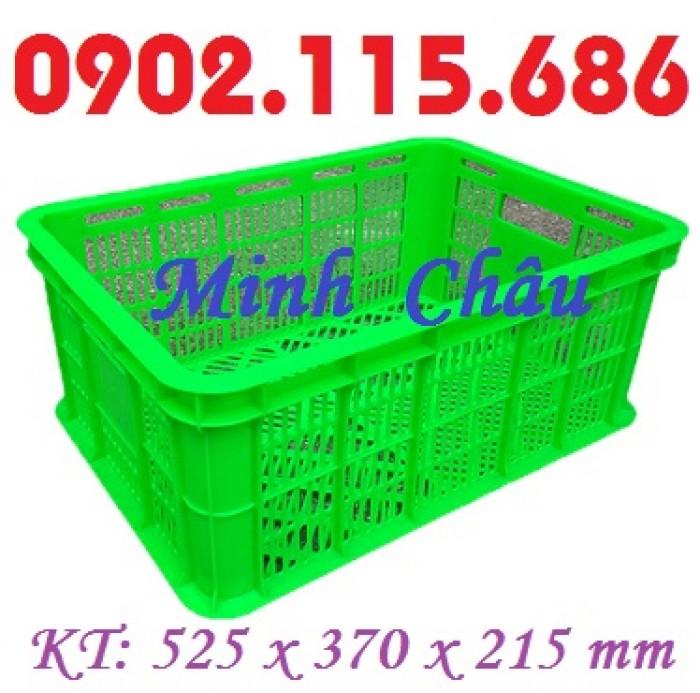 Sọt nhựa đan lưới, sọt đựng hải sản, sọt đựng rau củ, sọt đựng trái cây, sọt nhựa HS018,2