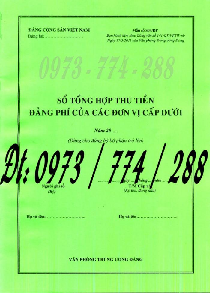 Bán cuốn sổ thu Đảng phí và quản lý tài chính Đảng của chi bộ mẫu mới nhất8