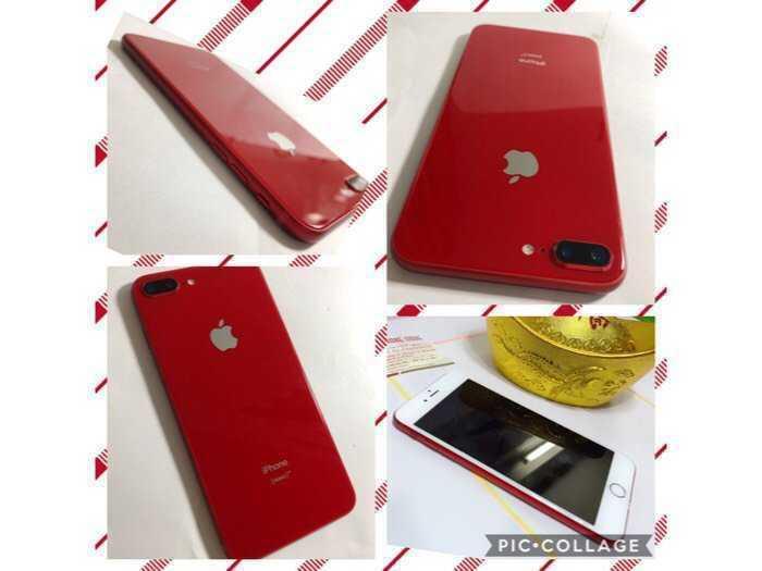 IPHONE 7PLUS-32G-QUỐC TẾ-LÊN VỎ IPHONE 8 PLUS-VÀNG HỒNG ROSE GOLD/ĐỎ PRODUCT RED.Như Mới99,9%.Chính hãng Apple3