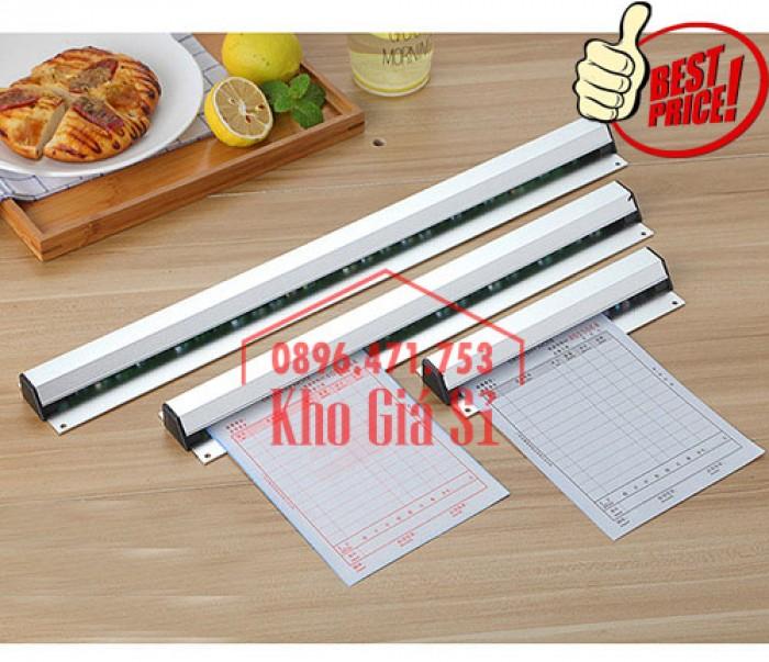 Thanh kẹp giấy in nhiệt gắn quầy bar 60cm - Cây gắn bill, menu, giấy order giá rẻ - Cần Thơ2