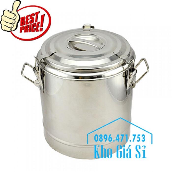 Nồi inox ủ cơm nóng, nồi inox cách nhiệt ủ nóng thức ăn tại Củ Chi2