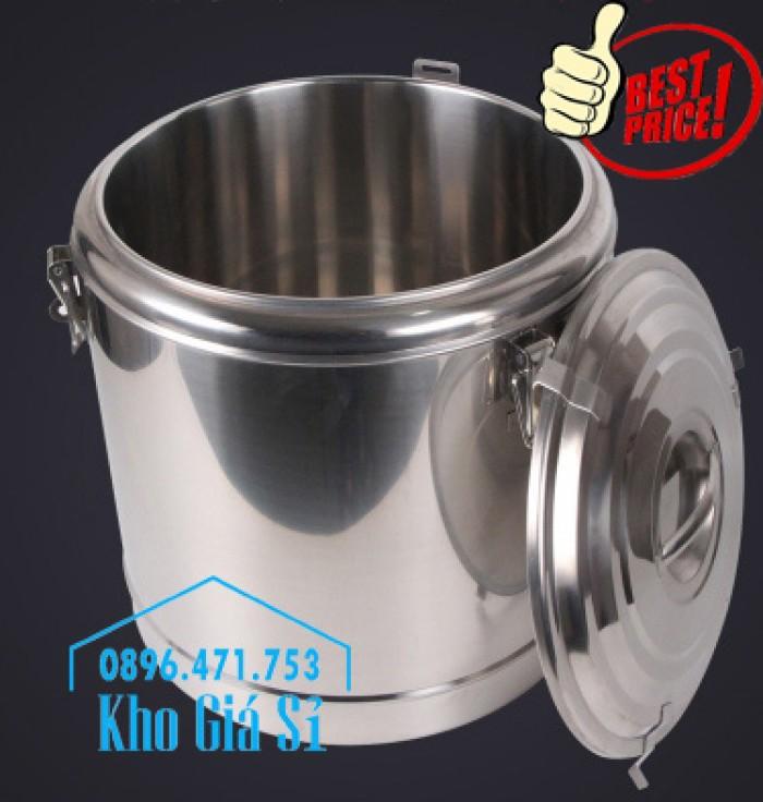 Nồi inox ủ cơm nóng, nồi inox cách nhiệt ủ nóng thức ăn tại Củ Chi6