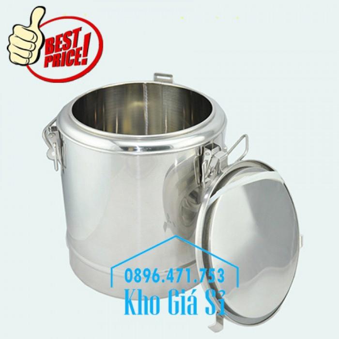 Nồi inox ủ cơm nóng, nồi inox cách nhiệt ủ nóng thức ăn tại Củ Chi1
