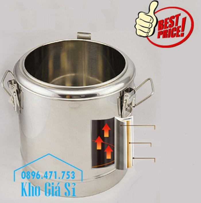 Nồi inox ủ cơm nóng, nồi inox cách nhiệt ủ nóng thức ăn tại Củ Chi9