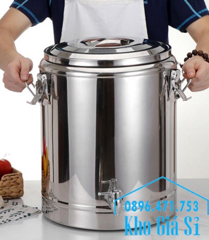 Nồi inox ủ cơm nóng, nồi inox cách nhiệt ủ nóng thức ăn tại Củ Chi10