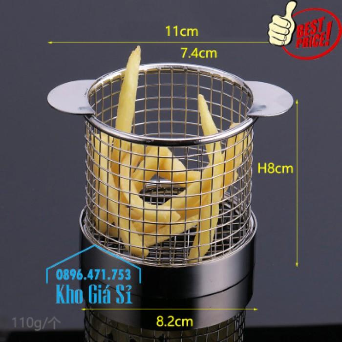 Rổ inox/ Rọ inox/ Giỏ inox đựng khoai tây chiên để bàn giá tốt - Bình Thạnh1