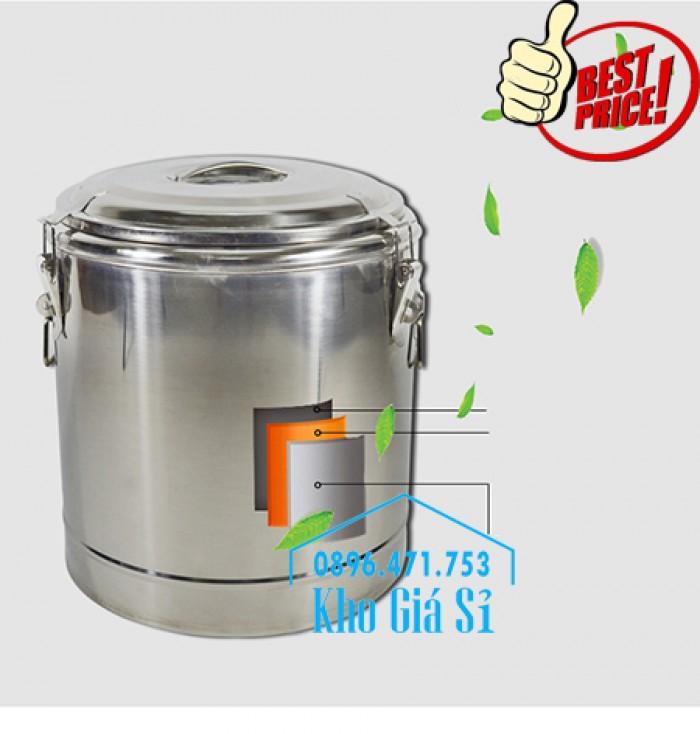 Bán thùng/ nồi inox cách nhiệt, giữ nhiệt đựng tàu hũ, cháo, soup cua tại Quận 118