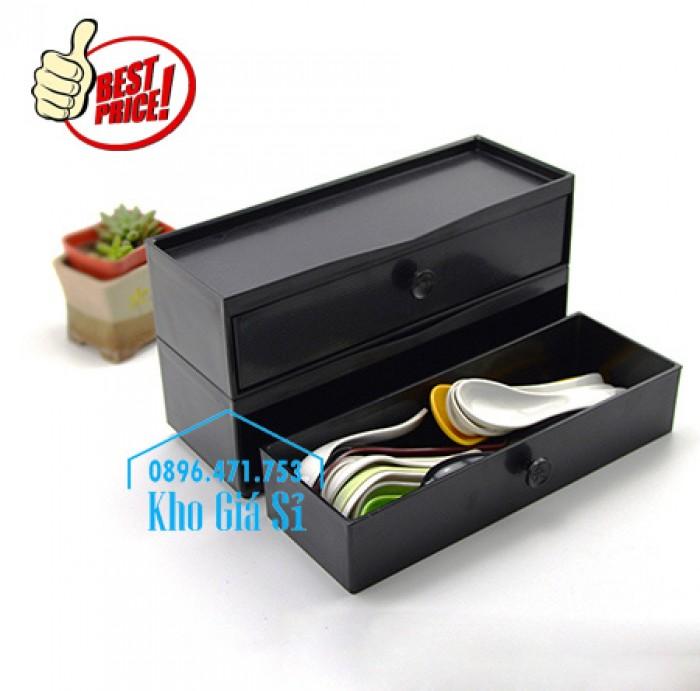 Hộp đựng muỗng đũa nhà hàng giá tốt tại Đà Nẵng - Hộp đũa Nhật Bản màu nâu, màu đen bằng nhựa melamine23