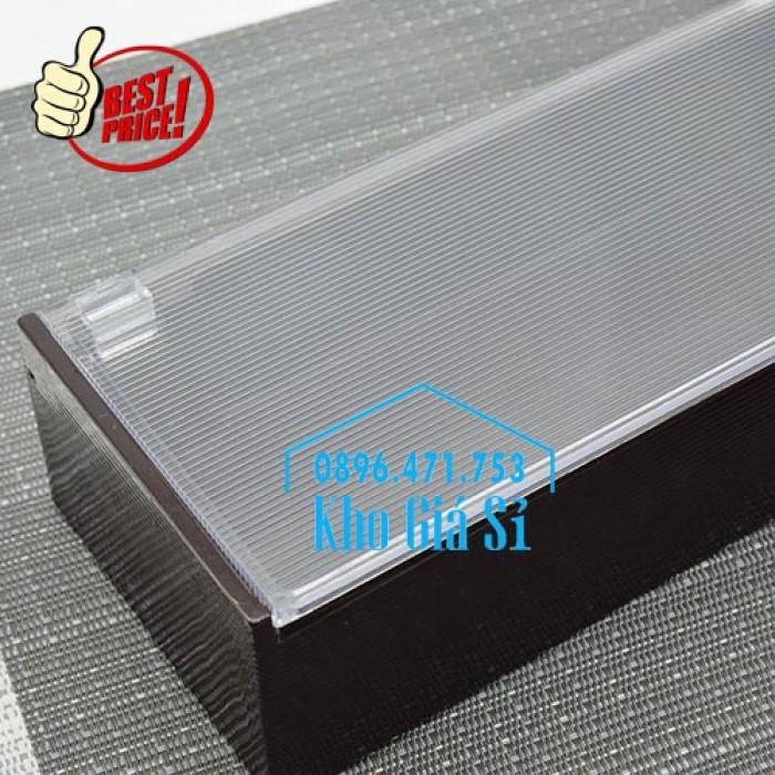 Hộp đựng đũa muỗng nhà hàng quán ăn - Hộp đựng đũa bằng nhựa màu đen, màu nâu cánh dán - HCM42