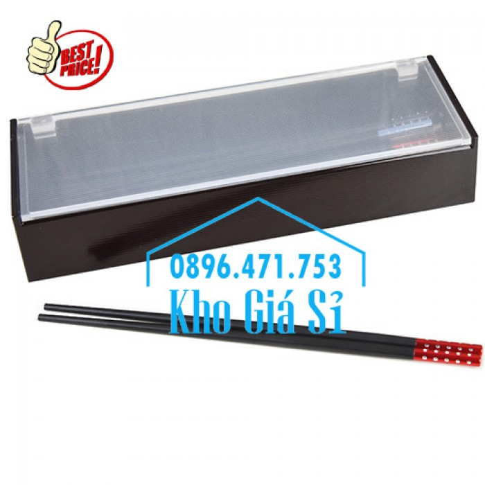 Hộp đựng đũa muỗng nhà hàng quán ăn - Hộp đựng đũa bằng nhựa màu đen, màu nâu cánh dán - HCM41
