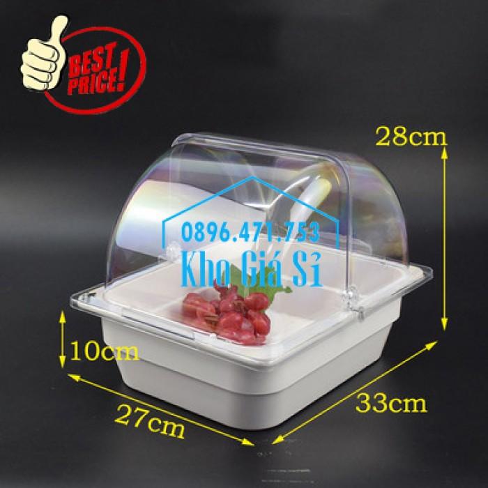 Khay trưng bày thức ăn buffet, trái cây, sashimi, bánh ngọt có nắp đậy bằng nhựa mica trong suốt mở 2 chiều - Bà Rịa Vũng Tàu5