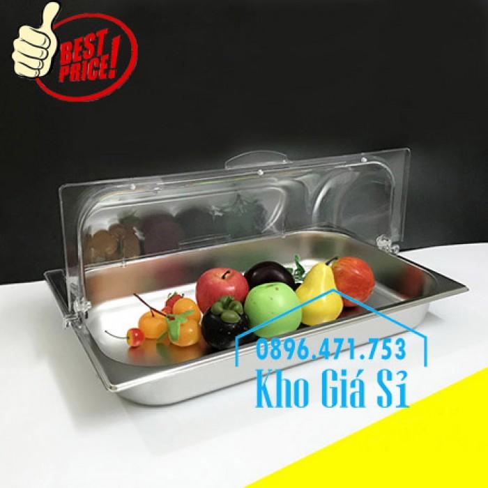 Khay trưng bày thức ăn buffet, trái cây, sashimi, bánh ngọt có nắp đậy bằng nhựa mica trong suốt mở 2 chiều - Bà Rịa Vũng Tàu9