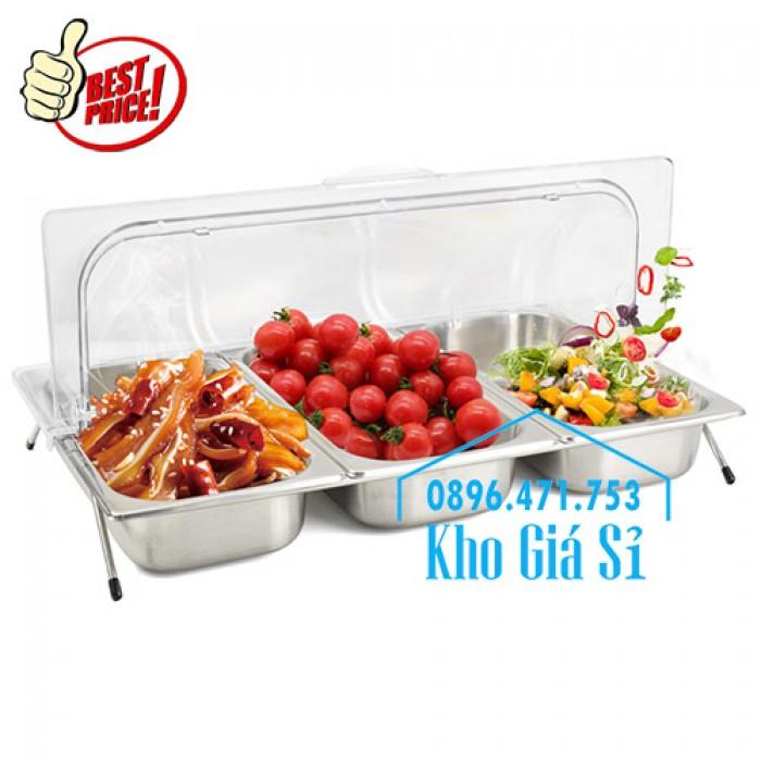 Khay trưng bày thức ăn buffet, trái cây, sashimi, bánh ngọt có nắp đậy bằng nhựa mica trong suốt mở 2 chiều - Bà Rịa Vũng Tàu4