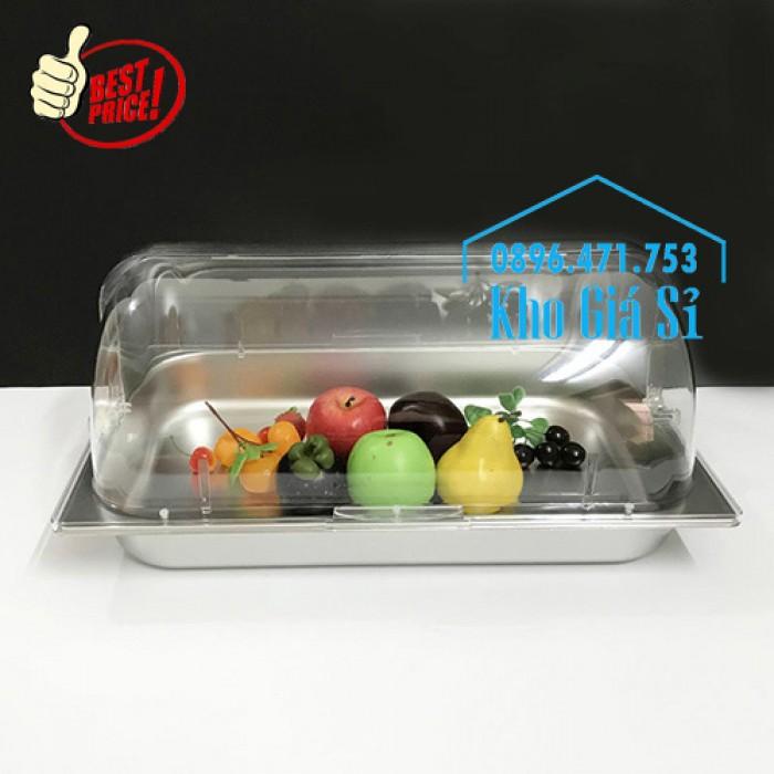 Khay trưng bày thức ăn buffet, trái cây, sashimi, bánh ngọt có nắp đậy bằng nhựa mica trong suốt mở 2 chiều - Bà Rịa Vũng Tàu2