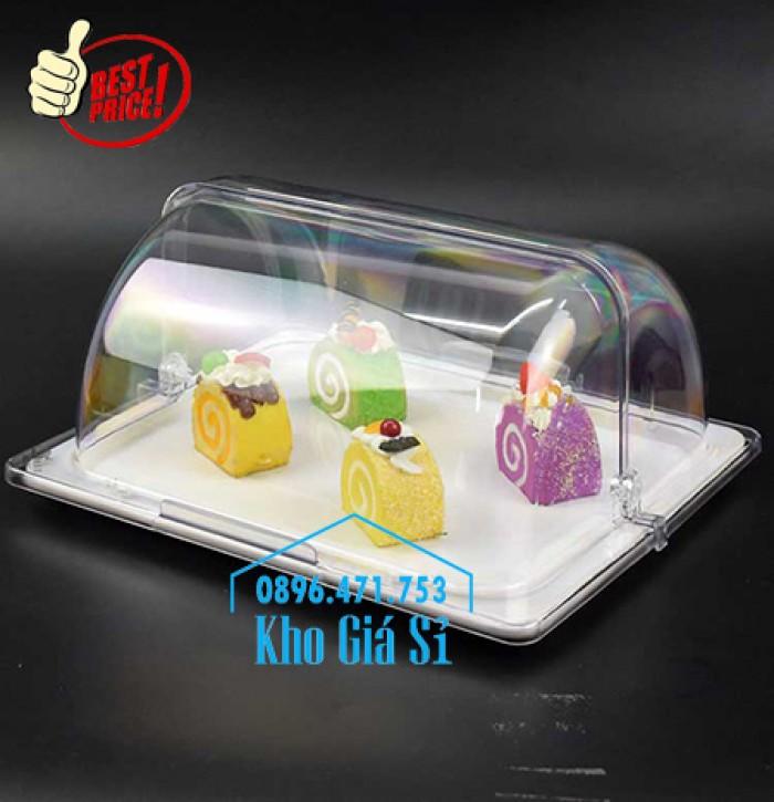 Khay trưng bày thức ăn buffet, trái cây, sashimi, bánh ngọt có nắp đậy bằng nhựa mica trong suốt mở 2 chiều - Bà Rịa Vũng Tàu7