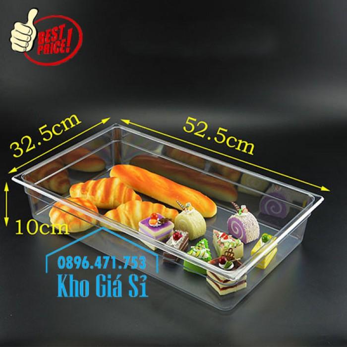 Khay đựng thức ăn buffet có nắp đậy bằng nhựa mica trong mở 2 chiều - Đà Nẵng8