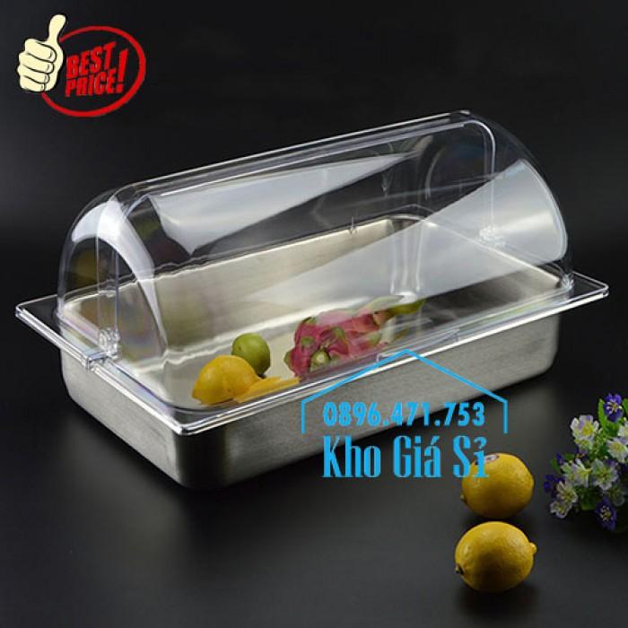 Khay đựng thức ăn buffet có nắp đậy bằng nhựa mica trong mở 2 chiều - Đà Nẵng7
