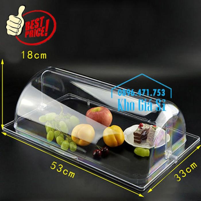 Khay đựng thức ăn buffet có nắp đậy bằng nhựa mica trong mở 2 chiều - Đà Nẵng5