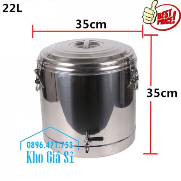 Phân phối sỉ và lẽ thùng inox giữ nhiệt - thùng inox cách nhiệt - 6