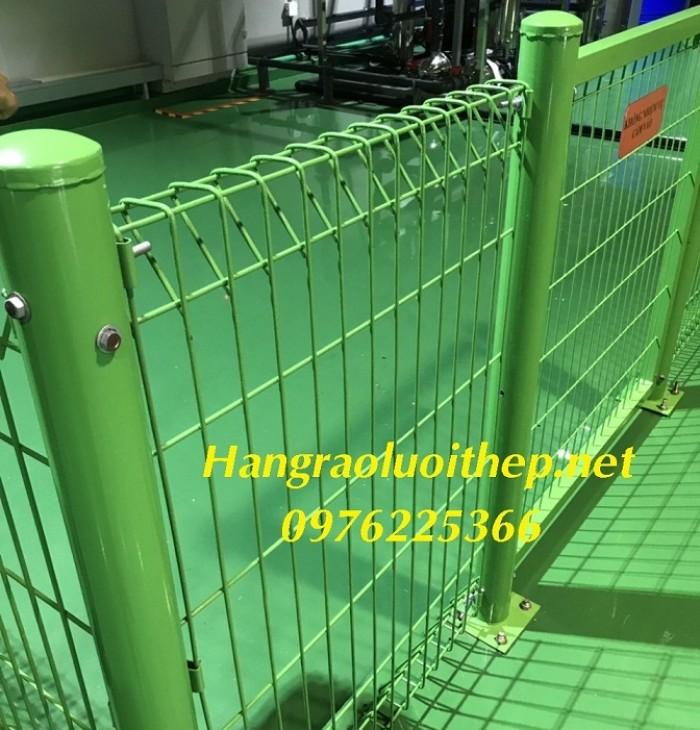 Hàng rào lưới thép, hàng rào sơn tĩnh điện gập hai đầu2