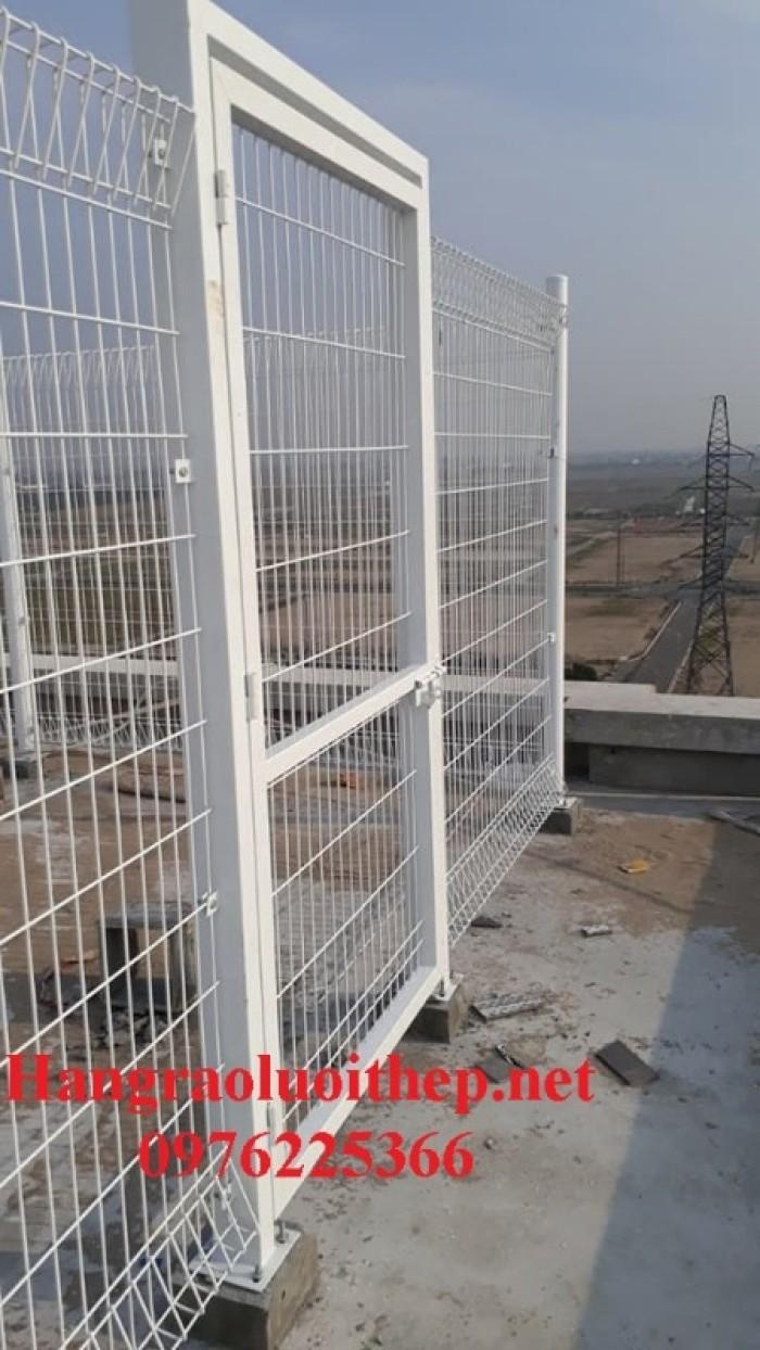 Hàng rào lưới thép, hàng rào sơn tĩnh điện gập hai đầu3