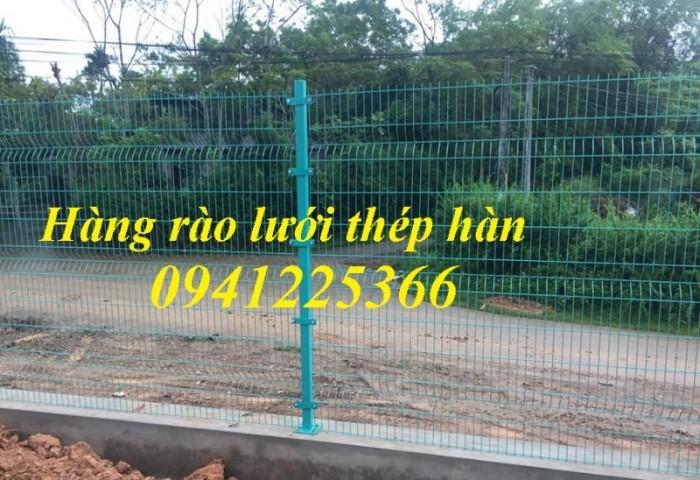 Hàng rào lưới thép, hàng rào sơn tĩnh điện gập hai đầu4