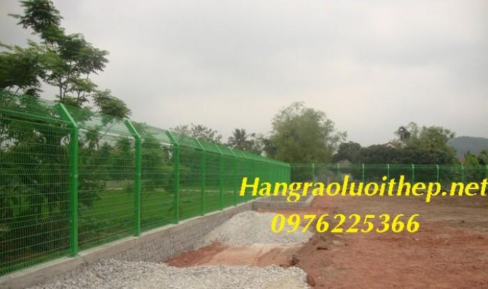 Hàng rào lưới thép, hàng rào sơn tĩnh điện gập hai đầu5