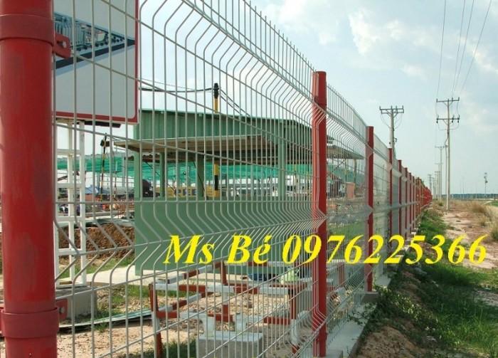 Hàng rào lưới thép, hàng rào sơn tĩnh điện gập hai đầu6