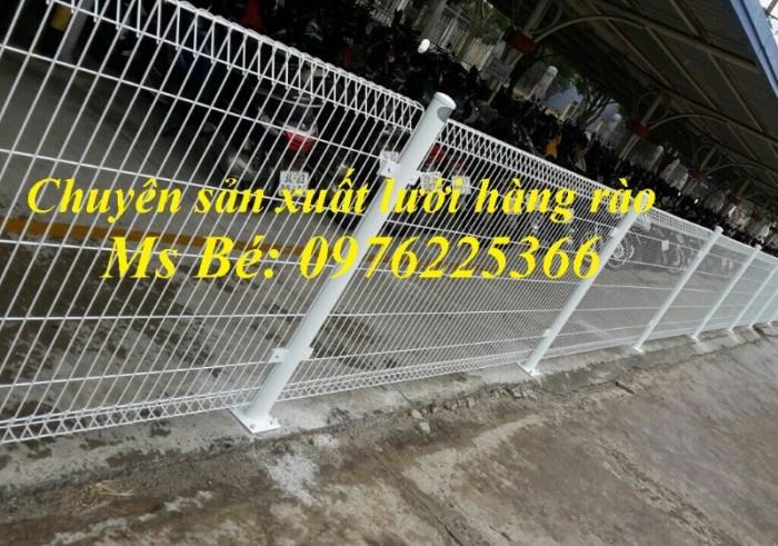 Hàng rào lưới thép, hàng rào sơn tĩnh điện gập hai đầu7