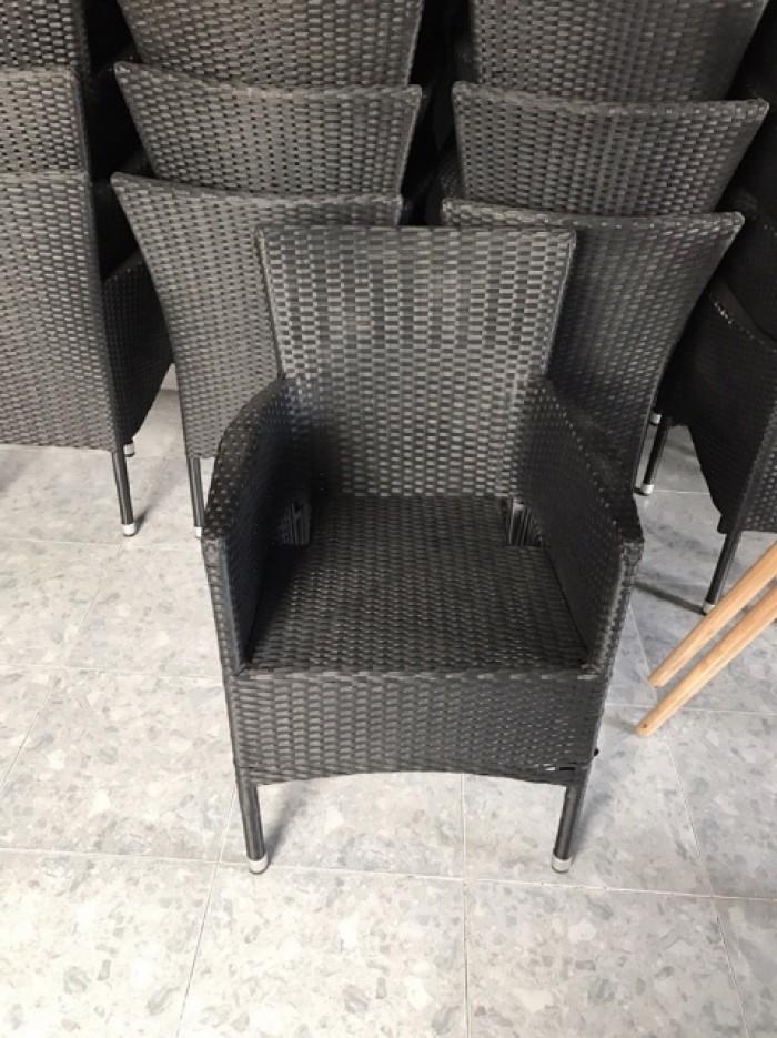 ghế mây cafe ngoài trời ghề nhựa giá rẻ0