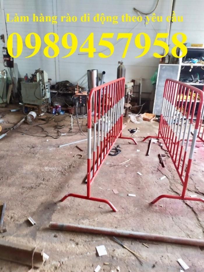 Sản xuất hàng rào ngăn đám đông, hàng rào di động 1mx2m, 1,2mx2m giá rẻ0