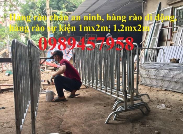 Sản xuất hàng rào ngăn đám đông, hàng rào di động 1mx2m, 1,2mx2m giá rẻ2