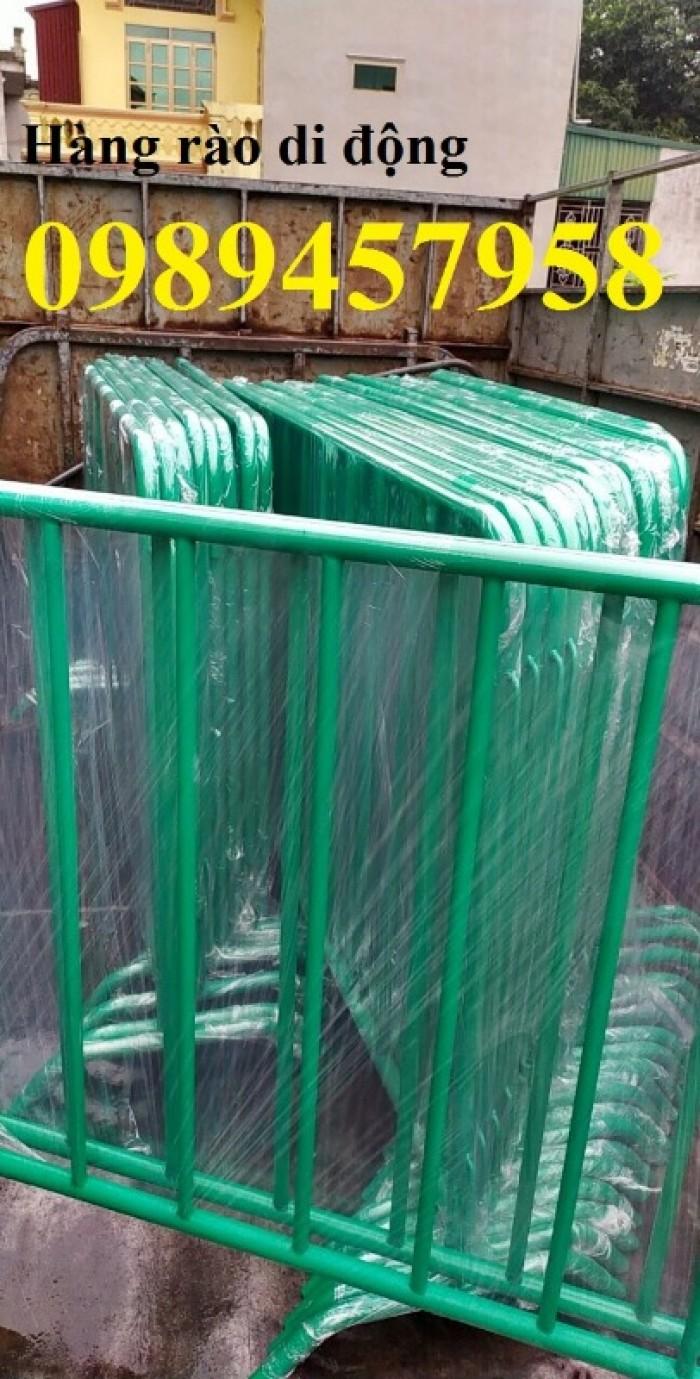 Sản xuất hàng rào ngăn đám đông, hàng rào di động 1mx2m, 1,2mx2m giá rẻ3