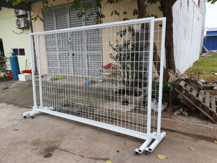 Sản xuất hàng rào ngăn đám đông, hàng rào di động 1mx2m, 1,2mx2m giá rẻ4