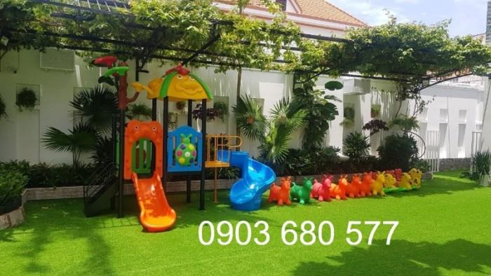 Cỏ nhân tạo an toàn trang trí sân chơi trẻ em, sân bóng đá, trường học mầm non6